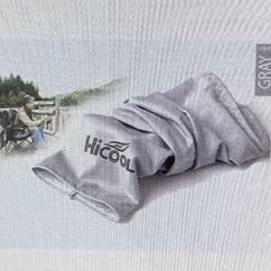 GRAY HI Cool UV & Cooler Cover Sport Arm Sleeves